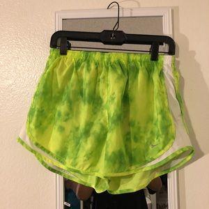 Neon Green Running Shorts w/ lining & drawstring